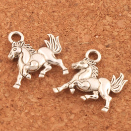 easter gifts for teens NZ - 150pcs lot My Little Horse Spacer Charm Beads 14x15.5mm Pendants for Cowgirl Teen Girls Equestrian Birthday Gift DIY L181