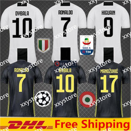 d0d4c2a50 2019 Thai Quality RONALDO JUVENTUS Soccer Jersey Men 18 19 7  JUVE CR7 9  Higuain 10 Dybala Mandzukic Home Away Football Shirt uniforms