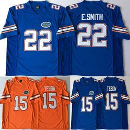 15 Tim Tebow Jerseys 22 E.Smith Emmitt Smith 2018 College Florida Gators  Football Blue White Orange Jersey 6fa6438ad