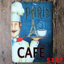 $enCountryForm.capitalKeyWord NZ - PARIS CAFE TIN SIGN Decor Wall Art Garage Shop Bar living room wall sticker home decor PosterPlates Craft Gift for Firend