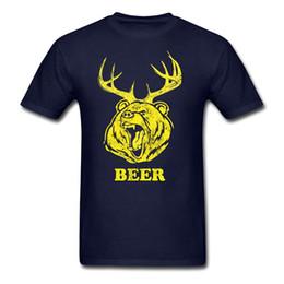 Compression Shorts For Men Australia - T Shirt Sites Crew Neck Short Beer Bear Deer Compression Mens T Shirts T Shirt For Men Design Custom Short Sleeve Boyfriend's 3XL Party Cami