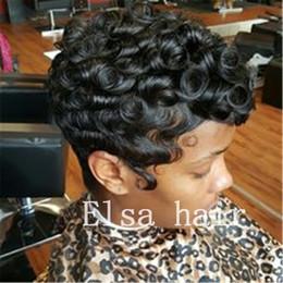 $enCountryForm.capitalKeyWord Australia - black short Curly hairstyles finger waves hairstyles capless human hair wigs for black woman