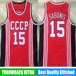 59dd4a3b1 Russia Sabonis 15 Jerseys Jersey Mens Throwback Basketball Jersey retro  Vintage stitched Shirt Classic european Collection SPORT HOT 19