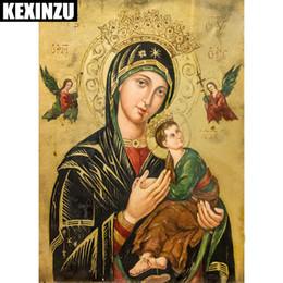 2018 5D Diy алмазов картина вышивки крестом религия мать ребенка алмазная мозаика религиозных мужчин Алмаз вышивка стразами
