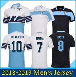 dc73cf985 18 19 Lazio Soccer Jersey LUCAS F.ANDERSON IMMOBILE SERGEJ D JORD JEVIC  LUIS ALBERTO DI GENNARO Custom Home 2018 2019 Football Shirt
