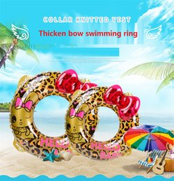 $enCountryForm.capitalKeyWord NZ - Inflatable Pool Ring Leopard Butterfly Bow Swimming ring Circle Pool Floats Thicker Swim Ring Kids Life Circle Beach Toys b1523
