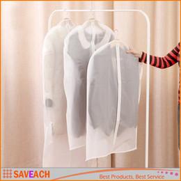$enCountryForm.capitalKeyWord Canada - Dress Clothes Garment Suit Cover Case Dustproof Coat Storage Bags Protector - Transparent Zipper Wardrobe Storage Bag