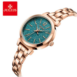 $enCountryForm.capitalKeyWord NZ - Julius luxury Starry Sky Dial Women Wrist Watch Ladies Stainless Steel Waterproof Watches Quartz Bracelet Watches Montre Femme