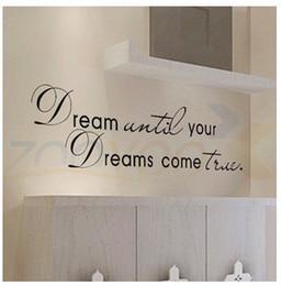 $enCountryForm.capitalKeyWord Australia - sticker Dream until your dreams come true Stickers English Wall Quotes Vinyl Home Decor Decals Letter decorative ZYVA-8009-NA