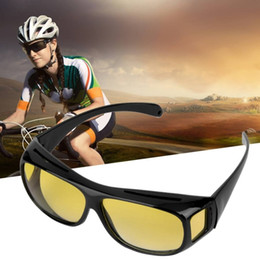 Night Drivers Glasses Australia - High Quality Driving HD Night Vision Yellow Lens Sunglasses Driver Safety Sun glasses Goggles type glass Brand New