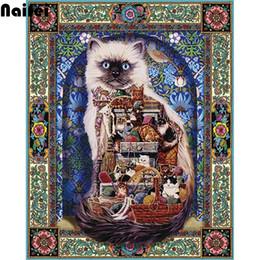 $enCountryForm.capitalKeyWord NZ - 5D diy cross stitch diamond painting abstract cat Picture 3d diamond embroidery kits diamond mosaic rhinestones embroidery gift