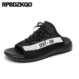 Discount sneaker men brand famous - Sport Mesh Mens Sandals 2018 Summer Outdoor Men Strap Famous Brand Sneakers Slides Slippers Black Flat Shoes Designer Sl