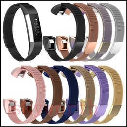 Ace bAnds online shopping - Magnetic Loop Metal Band For Fitbit ACE Charge Wristband Stainless Steel Watch Bracelet Mesh Strap Replacement