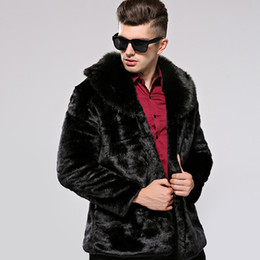 China KERUISHU Winter New Men's Luxury Faux Fur Coat High Quality Male Short Leather Fur Jacket Man Loose Imitation Furs Coat S-3XL K5 suppliers