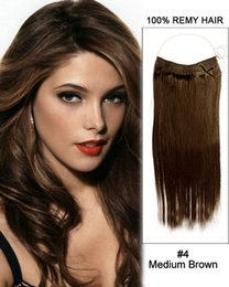 "$enCountryForm.capitalKeyWord UK - 80g-200g 8""-30"" Machine Made Remy Hair Flip in Human Hair Extensions One Piece Set Non-Clip Dark color"