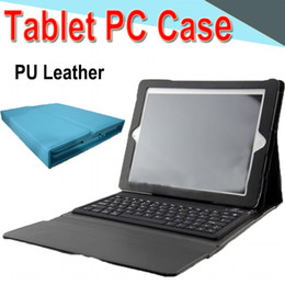 Ipad Tablet Stands NZ - 10 inch Bluetooth Keyboard PU Leather Case with Stand Holder Built-in Card Buckled Leather Tablet Case for Ipad 2345 Tablet PC color EXPT-5