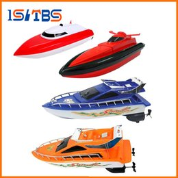 toys boats NZ - 4 Colors RC Boat Super Mini Speed Remote Control Ship 20M High Performance Electric Boat Toy Birthday Xmas Gift for Kids