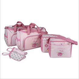 $enCountryForm.capitalKeyWord NZ - 4PCS Set High Quality Tote Baby Shoulder Diaper Bags Durable Nappy Bag Mummy Mother Baby Bag Mummy Maternity Nappy