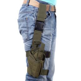 H10155 caza al aire libre táctico puttee muslo pierna pistola funda bolsa de abrigo