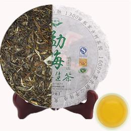 Yunnan puerh tea 357g puer cru chinois Menghai shen tea 357g puer green food santé soins de santé pu erh cake en Solde