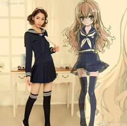 Wholesale-Anime TIGER DRAGON Toradora Aisaka Taiga salior Cosplay Costume  sexy halloween costumes for women School Suit Uniform 82d3dbba7