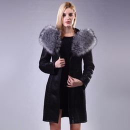 9f973eb9bc90e Factory Direct Supplier Collar Fox Faux Fur Coat Women long Winter Fashion  plush Slim Hooded Thickened Suede plus size 2017 New
