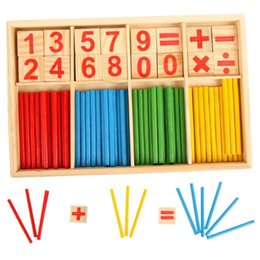 learning math sticks 2019 - Math Toys Counting Toys Baby Education Toy Wooden Counting Sticks Learning Toys Montessori Mathematical Baby Gift Wooden