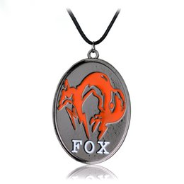 $enCountryForm.capitalKeyWord NZ - Game Jewelry Metal Gear Solid V The Phantom Pain FOX Symbol Mark Necklace Men Leather Rope Chain Necklace Wholesale