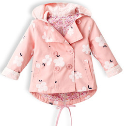 lace trench coats jackets Canada - New Lace Spring Autumn Baby Coat Outwear Children's Jackets Clothes Hooded Infants Outerwear Girl Hoody Cardigan Trench Coat