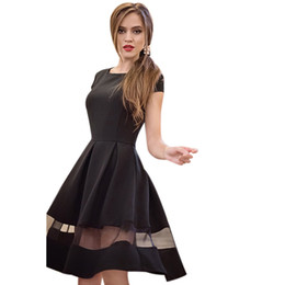 7bce3f548 2018 New Brand Women Fashion Dress Knee-length Casual O-neck A-line Short  Sleeve Chiffon Dress Vestido de festa Plus size XXL supplier short night  dress xxl ...