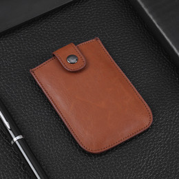 Discount wallet credit card protectors - Women Men ID  Protector Wallet Card Holder Buckle Package Box High Quality Leather Extractable Case