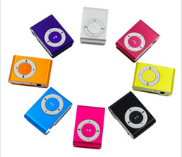 Wholesale MP3 Player MP4 Player Colorful Music Sport mp3 Players Support Micro SD Card TF Slot + Earphone +USB Cable with Gift box