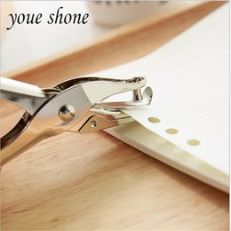 metal hole puncher NZ - Korea creative stationery single hole machine manual metal punching pliers paper stationery binding puncher Scrapbooking 8 Page
