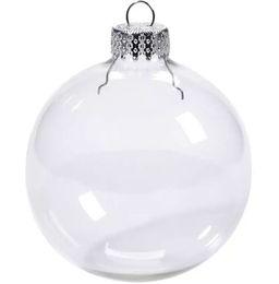 "$enCountryForm.capitalKeyWord NZ - Wedding Bauble Ornaments Christmas Xmas Glass Balls Decoration 80mm Christmas Balls Clear Glass Wedding balls 3""   80mm Christmas Ornament"