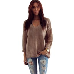 $enCountryForm.capitalKeyWord Australia - 2018 Womens Long Sleeve V-Neck Pullover Jumper Cardigan Loose Sweaters Jacket Spring Autumn women Sweater Slim cardigan Women