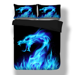 $enCountryForm.capitalKeyWord UK - wholesale 3D Dragon Print Bed Linen Bedding Sets Comforter Bed Cover Quilt Galaxy Duvet Cover Queen King Size Bedding Double Sets
