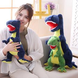 dinosaurs soft toys 2019 - Realistic Stuffed Animals Dinosaur Plush Toys Cute Cartoon Sitting Soft Dinosaur Toy for Kids 40 50cm MMA765 cheap dinos