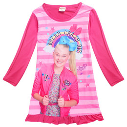 Long Sleeve Jojo Siwa Dresses For Girls Children Clothing Cute Dress Princess Birthday Party Costume Christmas Unicorn Sleepwear