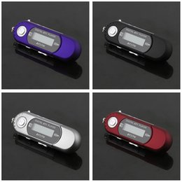 Mp3 Flash Drives Australia - 2PCS MP3 Player Mini USB 2.0 Flash Drive High Speed Transfer LCD Display Music MP3 Player