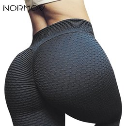 Tight White Yoga Pants Australia - NORMOV Fitness Clothing Yoga Leggings Tights Women Legging Sport Femme Breathable Push Up Pants Female Training Running Clothes