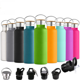 Water Sports Gifts NZ - Hot outdoor water bottle 600ml 304 stainless steel sports kettle riding water cup promotion custom gift Thermos Pot