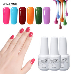 blue painted nails Canada - 6pcs Pure Color Series Nail Polish Set 8ml Soak Off Semi Permanent UV Gel Nail Polish Kit Paint Gellak Hybrid Varnish Sets