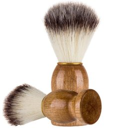 Súper Peluquería Salon Brocha de Afeitar Mango Negro Blaireau Cara Barba Limpieza Hombres Afeitado de Afeitar Cepillo de Afeitar Herramientas de Aparato CCA7700 100 unids