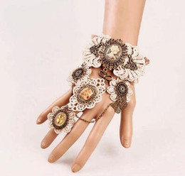 free new European and American gothic lace vintage bracelet band ring exaggerated gear watch bracelet fashion classic elegant on Sale
