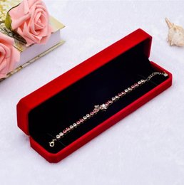 Wedding Display Cases Canada - New Velvet Bracelet Packing Boxes jewellery Storage Case Wedding Gift Boxes Necklace Bracelet Display Box