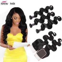 $enCountryForm.capitalKeyWord Australia - 8A Brazilian Virgin Human Hair 3Bundles With 4*4 closure Cheap Wholesale Brazillian Peruvian Indian MalaysianBody Wave Hair Extensions