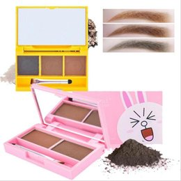 Eyebrow Shadow Powder NZ - Portable Mix Color Natural Waterproof Eyebrow Powder Brow Makeup Shadow With Brush A6