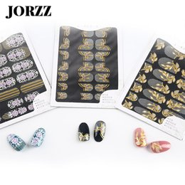 $enCountryForm.capitalKeyWord NZ - 8 Sheet Bronzing Nail Sticker Art Decals Lace Print For Nail Sticker DIY Sexy Fully Wrapped And Half Wrap Stickers Manicure Tool