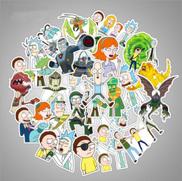 $enCountryForm.capitalKeyWord Canada - 36Pcs bag American Drama Rick and Morty Funny Sticker Decal For Car Laptop Bicycle Motorcycle Notebook Skateboard Guitar Waterproof Stickers