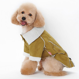 Free Style Clothes NZ - 2018 New Dog Wool Clothes Puppy Autumn Winter Wear Warm Coat Dogs Cats Fashion Motorcycle Style Pet Clothing Pets Casual Coats Free Ship